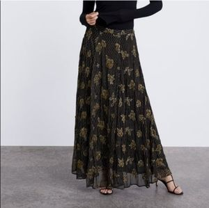 Zara Limited Edition Embroidered Skirt